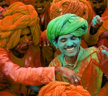 colours of holi festival india